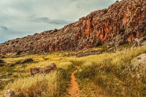 Cyprus, Cavo Greko, Path, Cliff, Rock, National Park