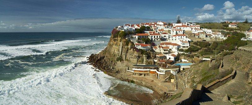 Azenhas Do Mar, Portugal, Sea, Cliff, Mar, Village