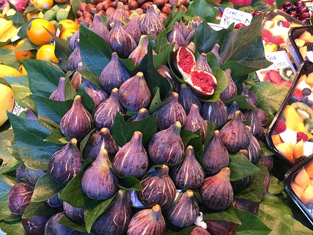 Figs, Fruits, Display, Colorful, Purple, Ripe, Exotic