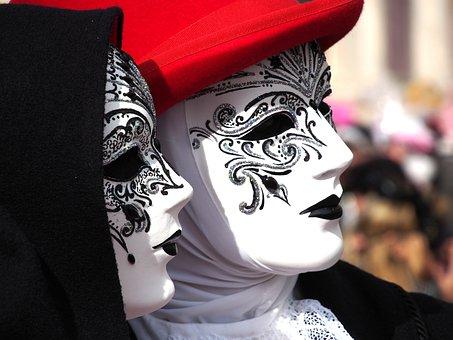 Carnival, Venice, Mask, Italy, Costume, Panel