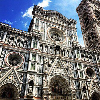 Florence, Dome, Cathedral, Italy, Church, Architecture