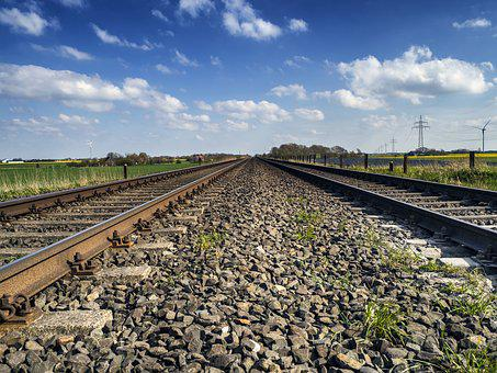 Seemed, Gleise, Railway Tracks, Railroad Tracks, Gravel