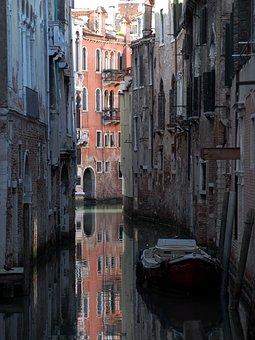 Venice, Alley, Boot, Italy, Gondola
