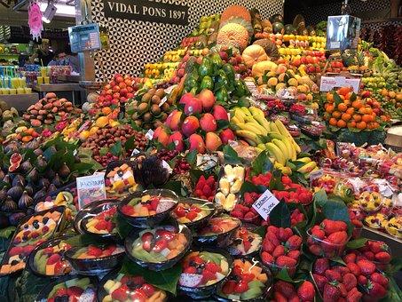 Fruits, Market, Produce, Fresh, Healthy, Vegetarian