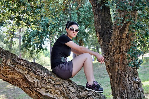 Woman, Sunglasses, Tree, Nature, Summer, Leisure, Relax