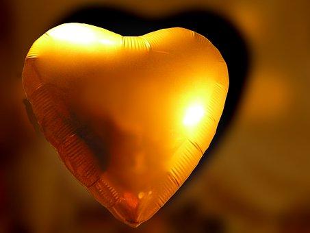Heart, Gold, Love, Romance, Wedding, Golden