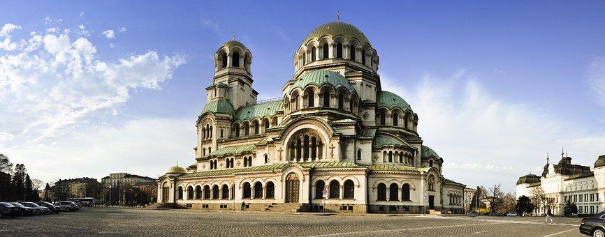 Church, Sofia, Alexander Nevski, Architecture, Europe