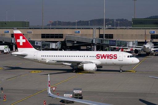 Swiss, Aircraft, Bombardier Cs100, Airport Zurich