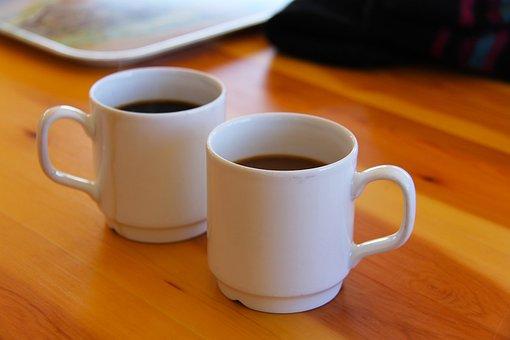 Coffee, Tea, Cup, White, Tea-time, Fika, Lunch, Meal