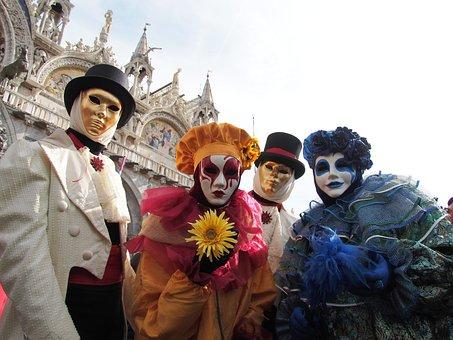 Carnival, Venice, Mask, Panel, Venezia