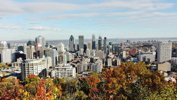 Montréal, Mount, Royal, Esplanade, Belvedere, View