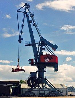 Crane, Industry, Harbour Crane, Loading Crane