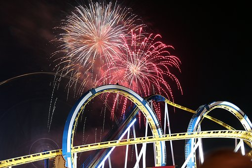 Fireworks, Fair, Roller Coaster, Folk Festival