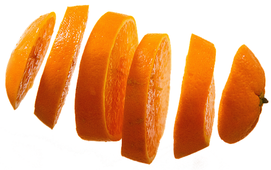 Orange Slices, Isolated, Fruit, Fruits, Food, Delicious