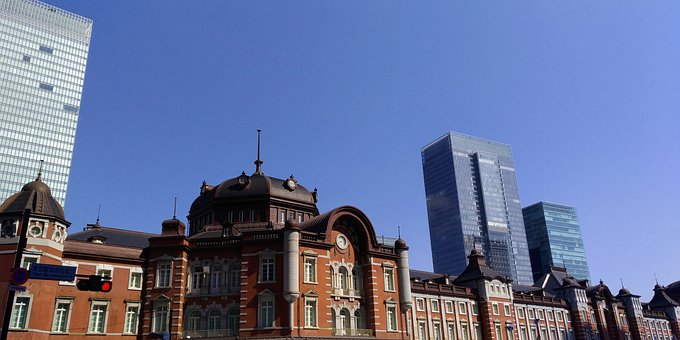 Tokyo Station, Japan, Red Brick, Gothic, Station