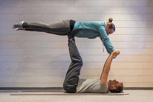 Acro-yoga, Yoga, Sport, Sporty, Fitness, Gymnastics
