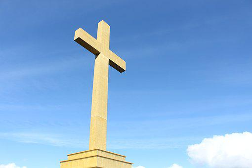 Cross, Statue, Giant, Outdoor, Religious, Sky, Monument