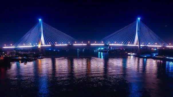 Canton, Crane Hole Bridge, Night View