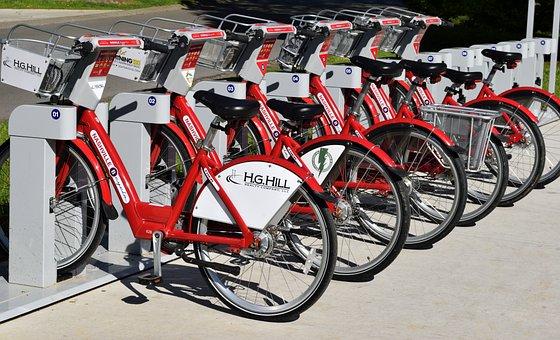 Bike Rental, Bikes, Rent, Pay, Transport
