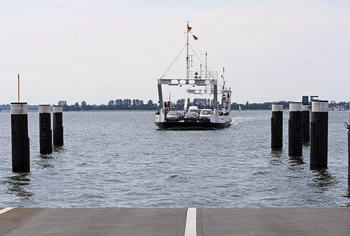 Rügen Ferry, The Ferry Glewitz, Rügen Island, Bollard