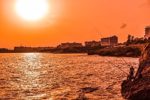 Cyprus, Ayia Napa, Sunset, Fishing Time, Afternoon