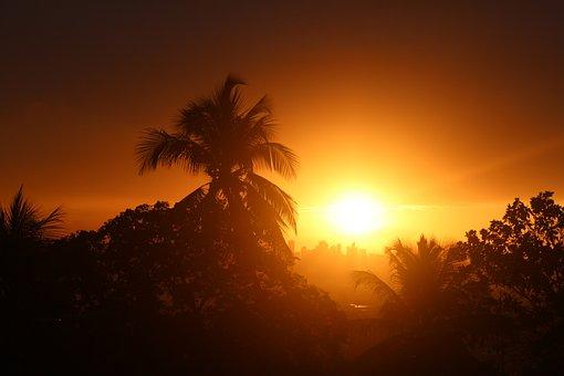 Sunset, Sun, Abendstimmung, Setting Sun, Afterglow