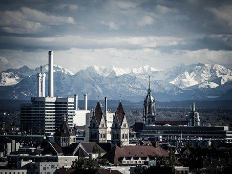 Munich, Office, Window, Architecture, Facade, Building