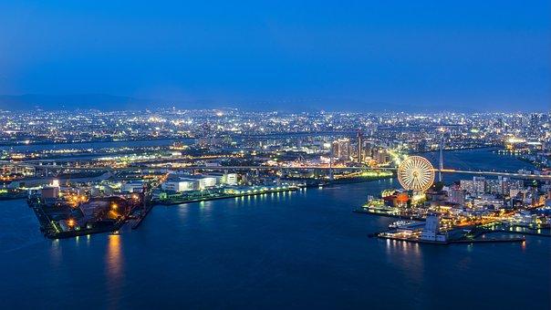 Osaka Port, Port Of Osaka, Japan, Architecture, Nature