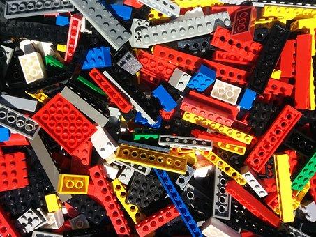 Lego, Bricks, Parts, Block, Colorful, Build