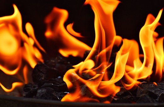 Fire, Carbon, Charcoal, Hot, Embers, Barbecue, Glow