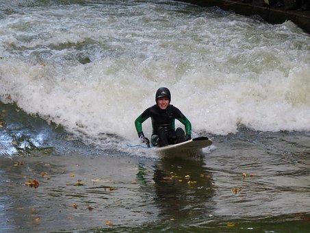 Eisbach, Surf, Surfing, Surfer, English Garden, Bavaria