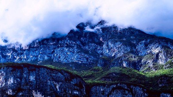 Italy, Sunrise, Dawn, Mountains, Fog, Nature, Outdoors