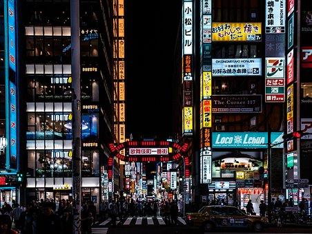 Shinjuku, Kabukicho, Japan, Tokyo, Street, Neon