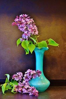 Lilac, Lilac Bouquet, Flowers, Spring, Decorative