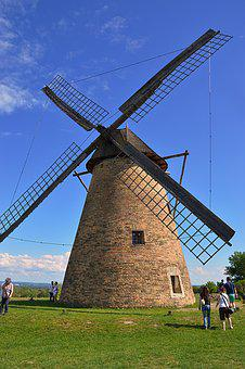 Windmill, Wind, Rotate, Mill, Excursion, Summer