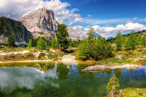 Dolomites, Mountains, Italy, View, Alpine, Hiking