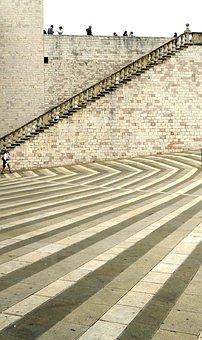 Assisi, San Francesco, Basilica, Square, Pavement
