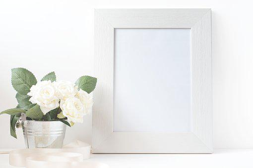 Picture, Frame, Canvas, Card, Paper, Blank, Flower