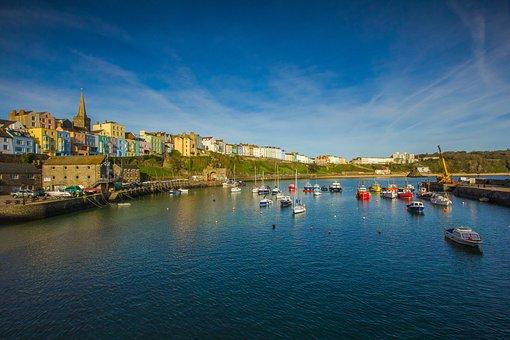 Port, City, Ships, Wales, England
