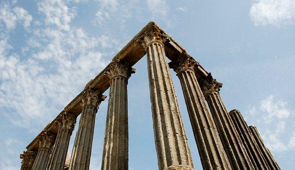 évora, Portugal, Rome, Temple, Columns, Old Building