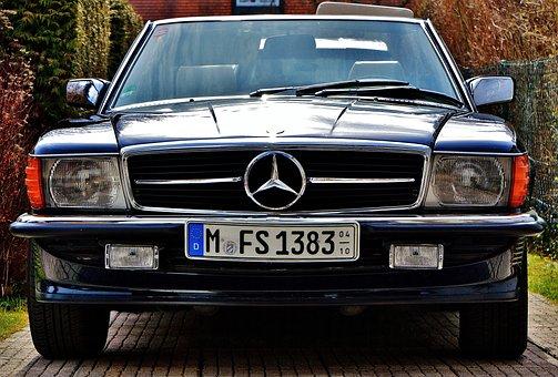 Mercedes, Convertible, Sl300, Sl, Oldtimer, Blue
