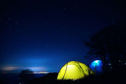 Starry Sky, Tent, Night, Interstellar