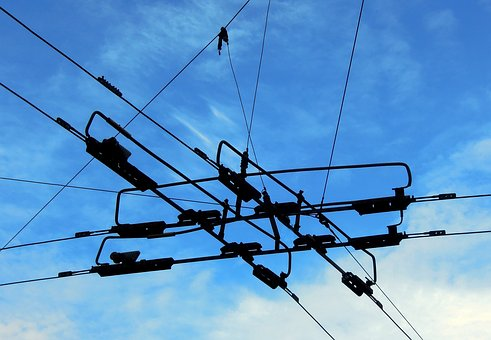 Trolley, Wire, Current, Voltage, Electricity