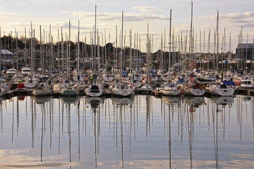 Ireland, Dublin, Howth, Port, Peninsula, Island, Water