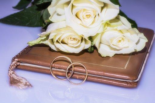 Wedding Rings, Wedding Book, Roses, Rings, Gold Rings