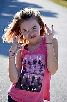 Girl, Peace, Young, People, Lifestyle, Happy, Female