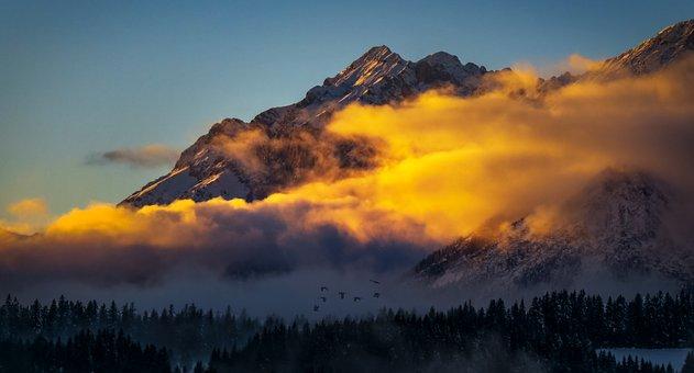 Mountain, Alpine, Austria, Clouds, Alp, Landscape