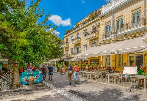 Athens, Monastraki, Greece, Greek, City, Tourism, Cafe