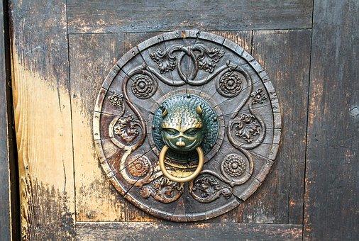 Door Handle, Vintage Door, Museums Of Augsburg