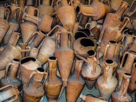 Amphorae, Clay, Ancient Shipwreck, Greek, Ceramic